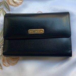 St. John Leather Wallet Card Holder